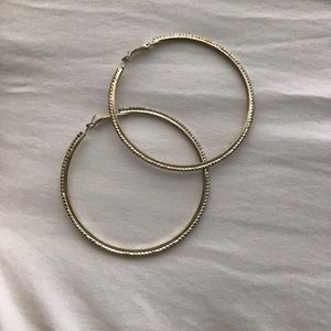 Gold jeweled hoops!